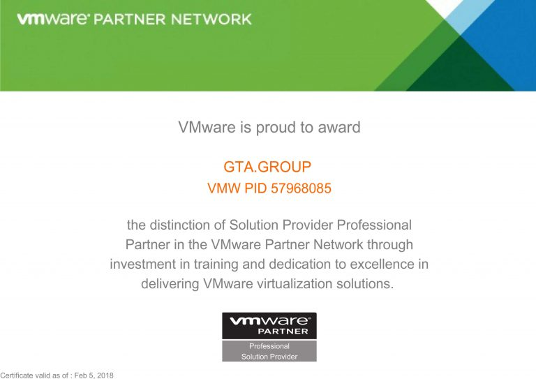 vmware партнер